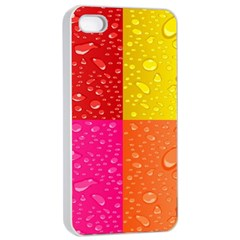 Color Abstract Drops Apple iPhone 4/4s Seamless Case (White)