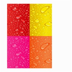 Color Abstract Drops Small Garden Flag (two Sides)