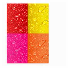 Color Abstract Drops Large Garden Flag (Two Sides)