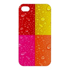 Color Abstract Drops Apple Iphone 4/4s Premium Hardshell Case