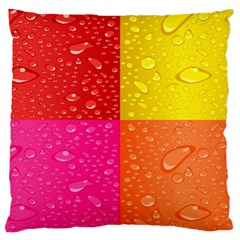 Color Abstract Drops Large Cushion Case (Two Sides)