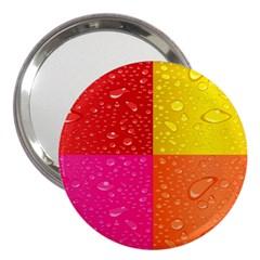 Color Abstract Drops 3  Handbag Mirrors