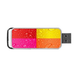 Color Abstract Drops Portable USB Flash (Two Sides)