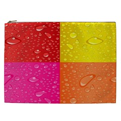 Color Abstract Drops Cosmetic Bag (xxl)