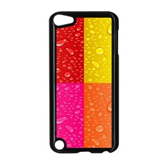 Color Abstract Drops Apple Ipod Touch 5 Case (black)