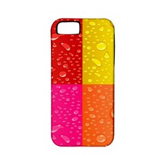 Color Abstract Drops Apple iPhone 5 Classic Hardshell Case (PC+Silicone)