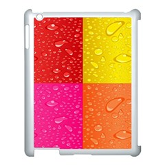 Color Abstract Drops Apple iPad 3/4 Case (White)