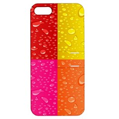 Color Abstract Drops Apple Iphone 5 Hardshell Case With Stand