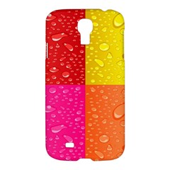 Color Abstract Drops Samsung Galaxy S4 I9500/i9505 Hardshell Case
