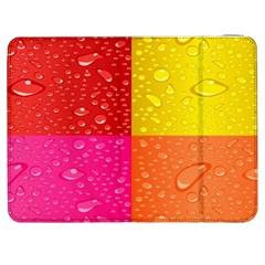 Color Abstract Drops Samsung Galaxy Tab 7  P1000 Flip Case