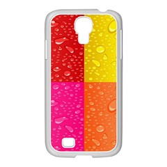 Color Abstract Drops Samsung Galaxy S4 I9500/ I9505 Case (white)
