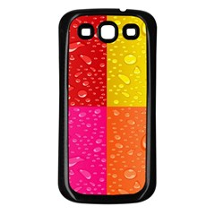 Color Abstract Drops Samsung Galaxy S3 Back Case (black)