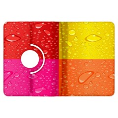Color Abstract Drops Kindle Fire Hdx Flip 360 Case
