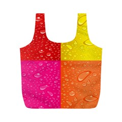 Color Abstract Drops Full Print Recycle Bags (m)