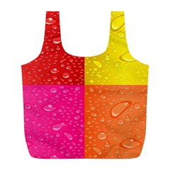 Color Abstract Drops Full Print Recycle Bags (l)