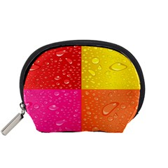 Color Abstract Drops Accessory Pouches (Small)