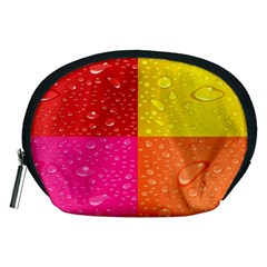 Color Abstract Drops Accessory Pouches (Medium)