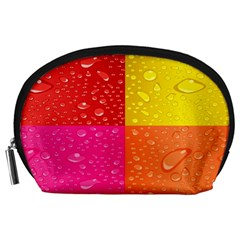 Color Abstract Drops Accessory Pouches (Large)