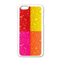 Color Abstract Drops Apple Iphone 6/6s White Enamel Case