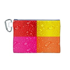 Color Abstract Drops Canvas Cosmetic Bag (M)