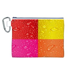 Color Abstract Drops Canvas Cosmetic Bag (l)