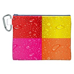 Color Abstract Drops Canvas Cosmetic Bag (xxl)
