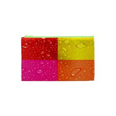 Color Abstract Drops Cosmetic Bag (xs)