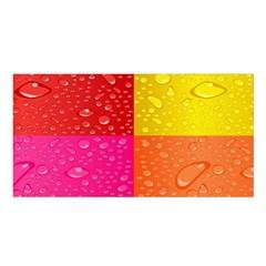 Color Abstract Drops Satin Shawl