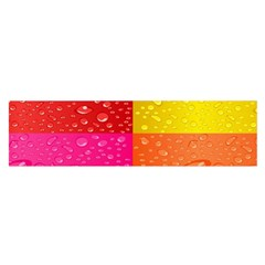 Color Abstract Drops Satin Scarf (oblong)