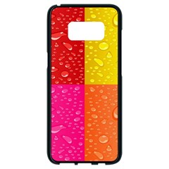 Color Abstract Drops Samsung Galaxy S8 Black Seamless Case