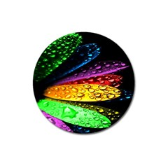 Abstract Flower Magnet 3  (round)