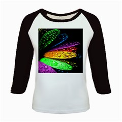Abstract Flower Kids Baseball Jerseys