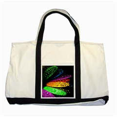 Abstract Flower Two Tone Tote Bag