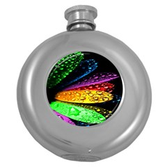 Abstract Flower Round Hip Flask (5 oz)