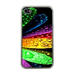 Abstract Flower Apple Iphone 4 Case (clear)