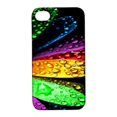 Abstract Flower Apple Iphone 4/4s Hardshell Case With Stand