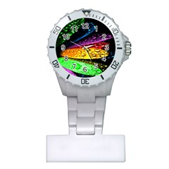 Abstract Flower Plastic Nurses Watch