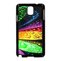 Abstract Flower Samsung Galaxy Note 3 Neo Hardshell Case (Black)