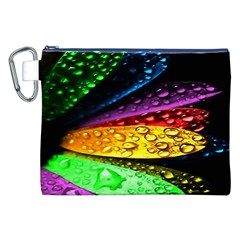 Abstract Flower Canvas Cosmetic Bag (xxl)