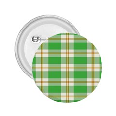Abstract Green Plaid 2.25  Buttons