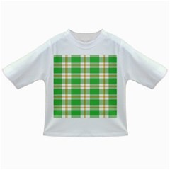 Abstract Green Plaid Infant/toddler T Shirts