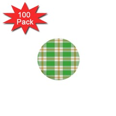 Abstract Green Plaid 1  Mini Buttons (100 Pack)