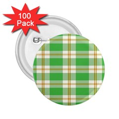 Abstract Green Plaid 2 25  Buttons (100 Pack)