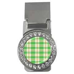Abstract Green Plaid Money Clips (CZ)
