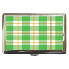 Abstract Green Plaid Cigarette Money Cases