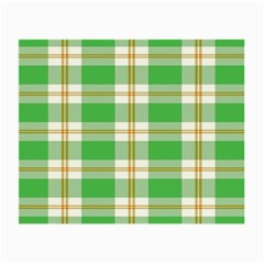 Abstract Green Plaid Small Glasses Cloth