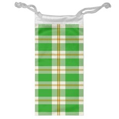 Abstract Green Plaid Jewelry Bag