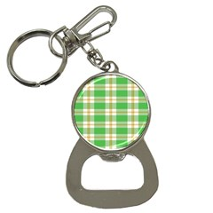 Abstract Green Plaid Button Necklaces