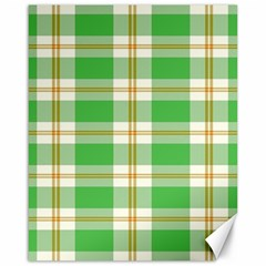 Abstract Green Plaid Canvas 16  x 20
