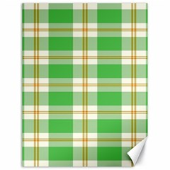 Abstract Green Plaid Canvas 18  X 24